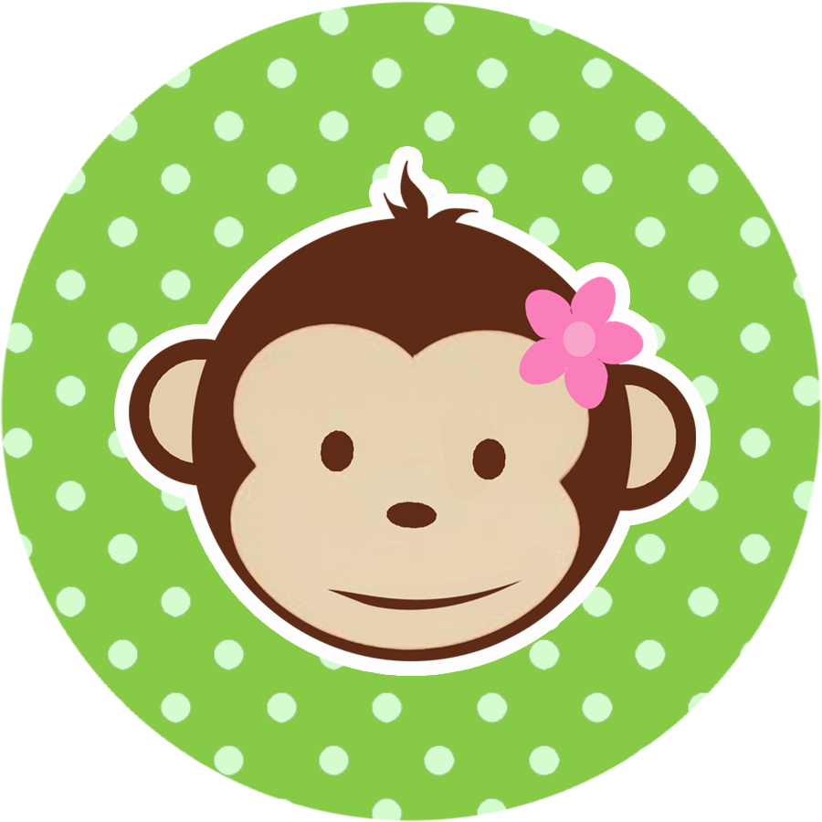 jpg freeuse library Monkeys free printable mini. Beard clipart baby shower