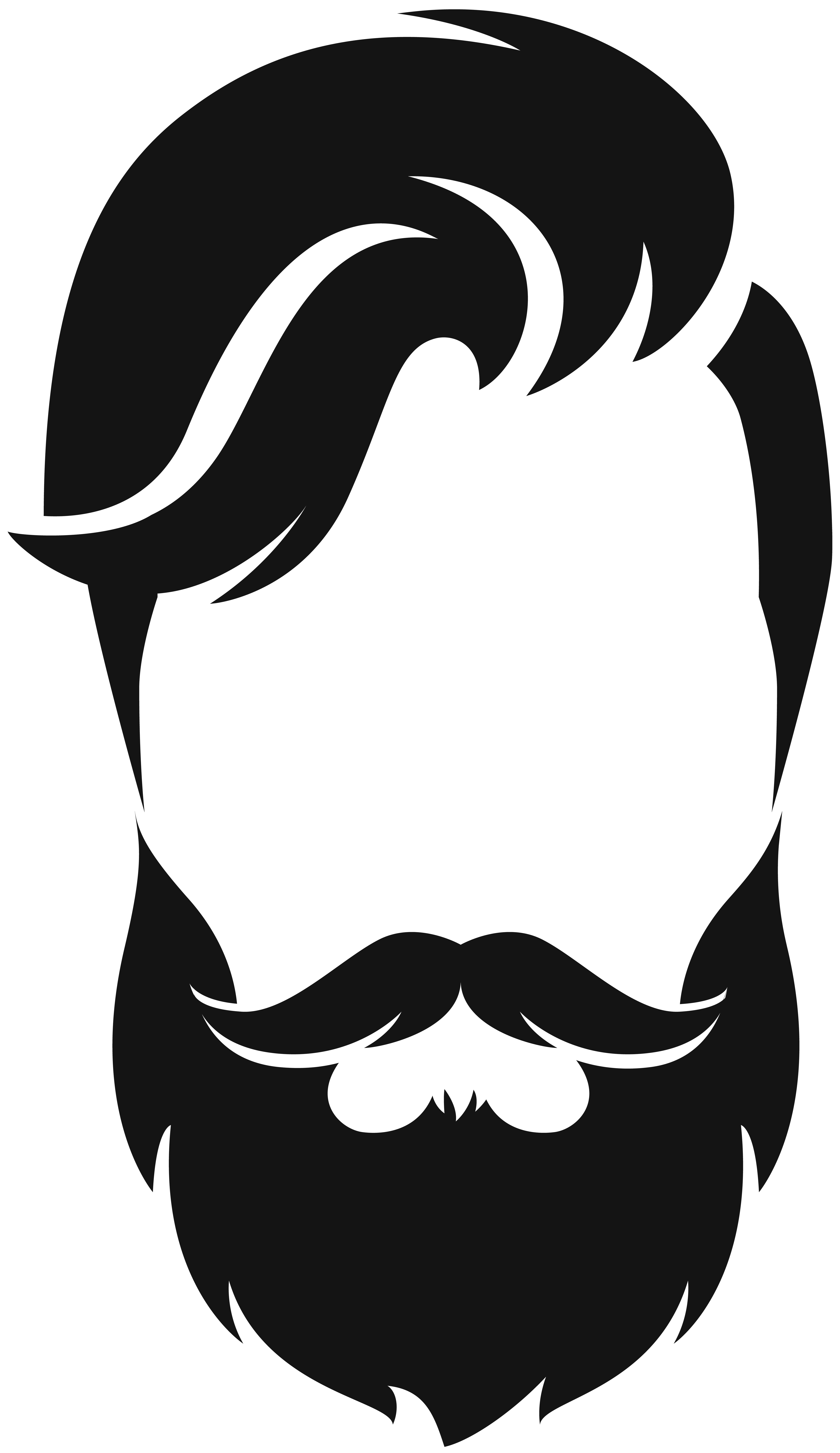 picture black and white download Silhouette moustache clip art. Beard clipart bearded man