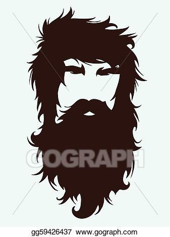 freeuse download Vector art bearded man. Beard clipart beared.