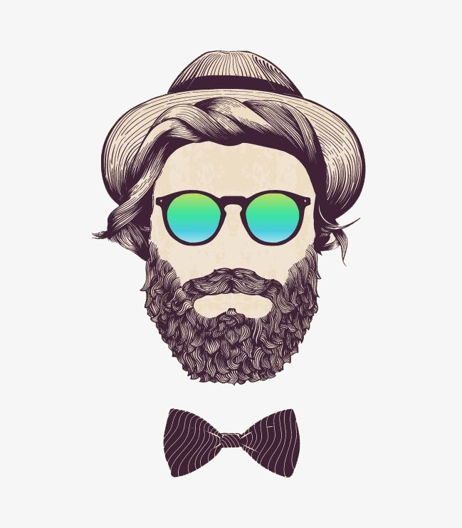 banner freeuse stock Transparent free for . Beard clipart beared.
