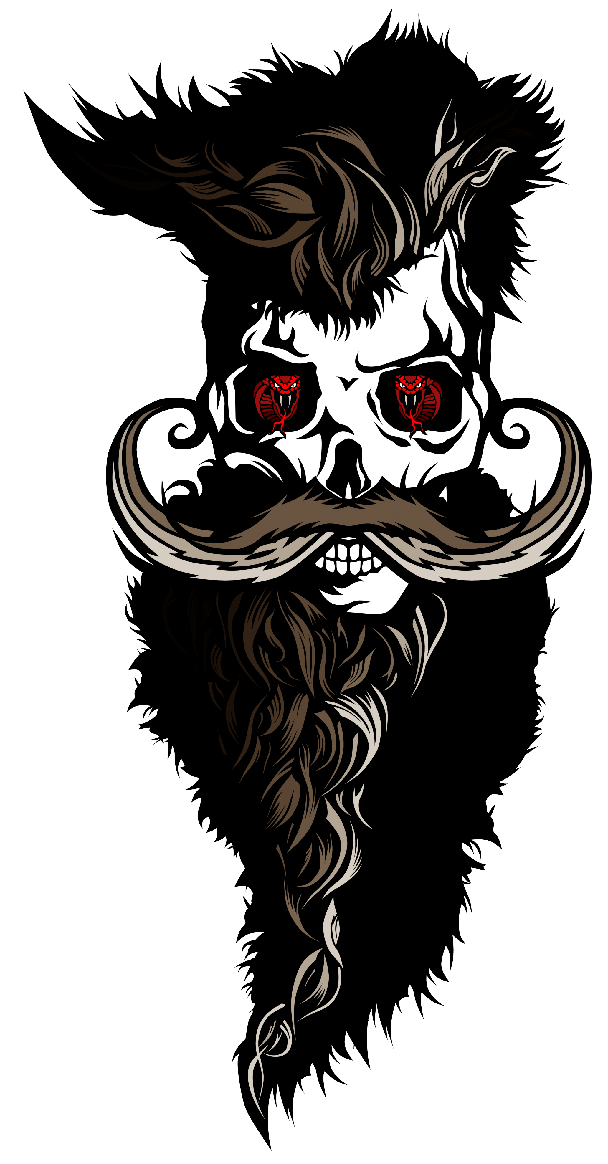 svg freeuse download Tee shirt tete de. Beard clipart biker.