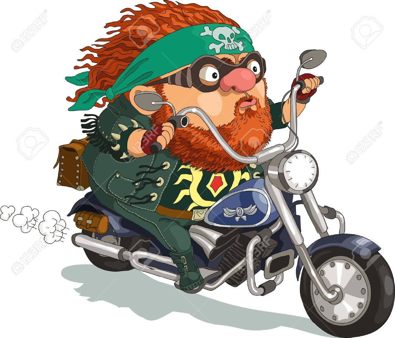 svg free Stock vector download cartoon. Beard clipart biker.