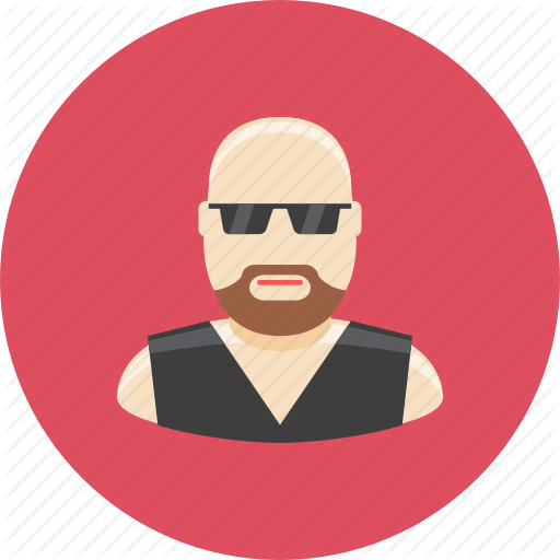 svg freeuse stock Beard clipart biker. Avatars by kolo design.