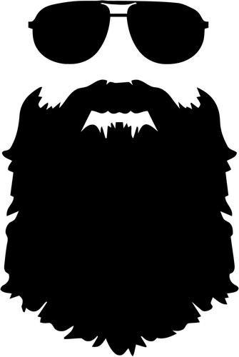 svg free stock Beard clipart black and white. Sunglasses vinyl decal sticker
