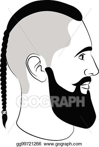 svg transparent Beard clipart braided. Clip art vector viking