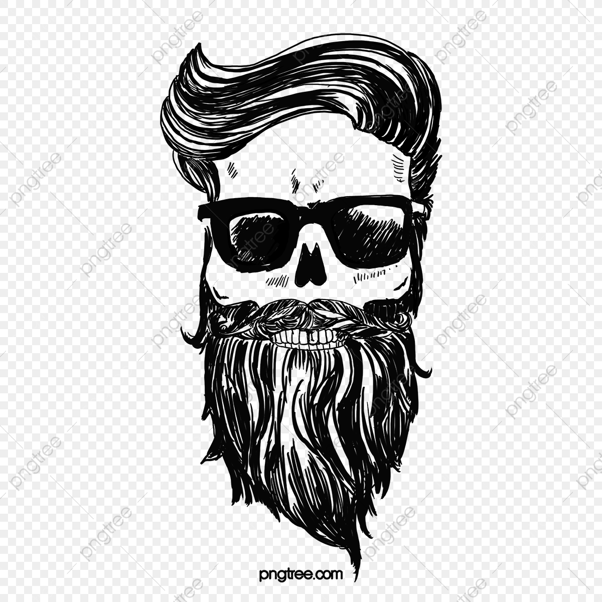 svg free download Cartoon uncle bearded png. Beard clipart bushy tree