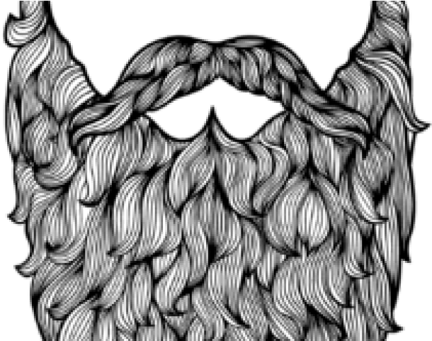 jpg black and white Drawn big data download. Beard clipart bushy tree.