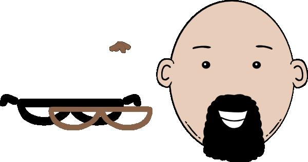 banner free download Man face clip art. Beard clipart cartoon