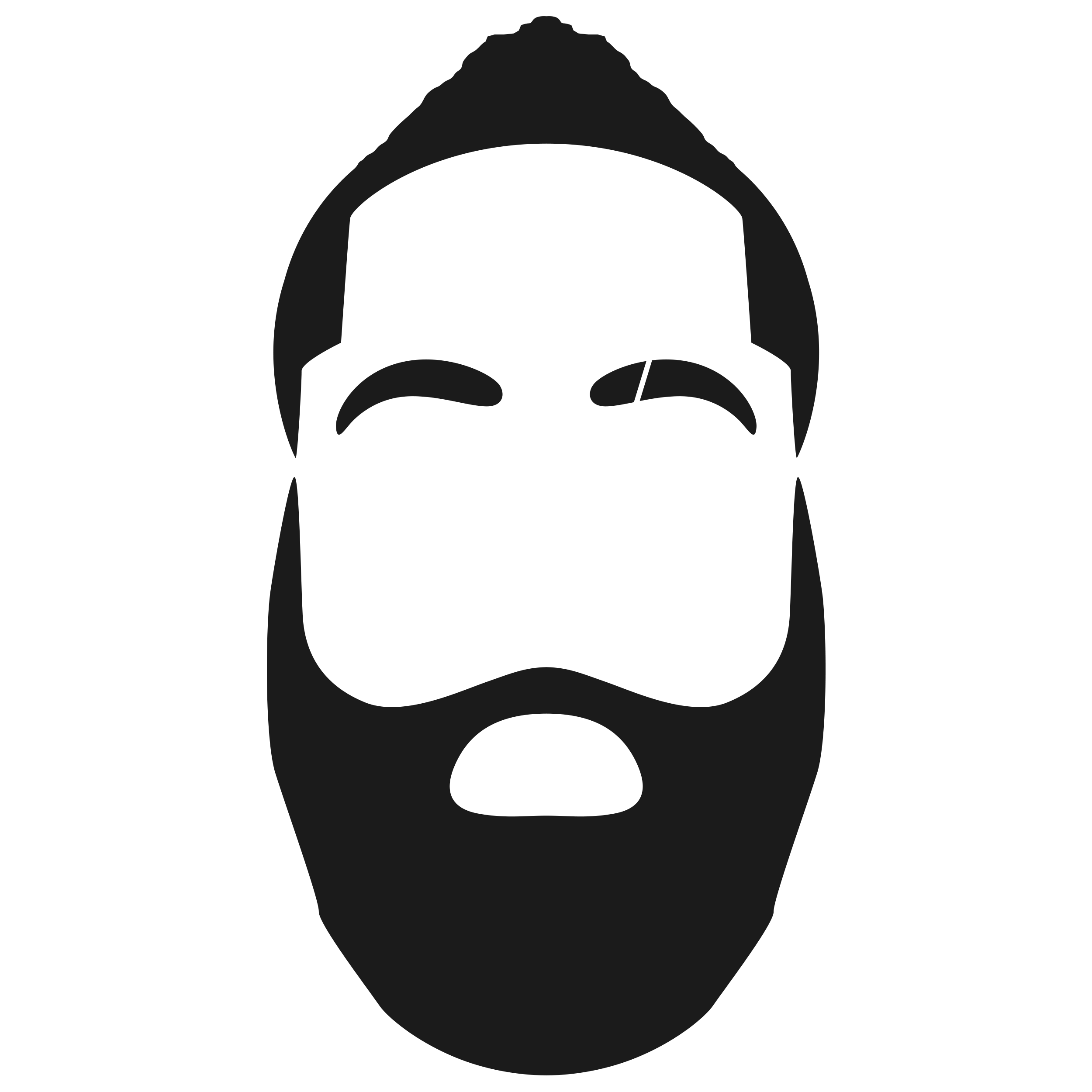 jpg black and white Beard clipart cartoon. Transparent background graphic free.