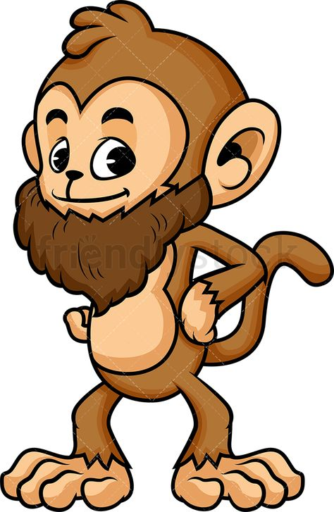image transparent stock Monkey with long of. Beard clipart cartoon.
