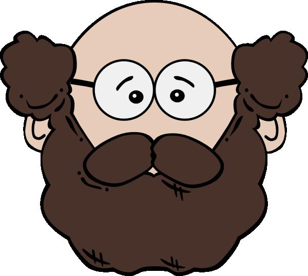 jpg free stock Beard clipart cartoon. Balding man with mustache