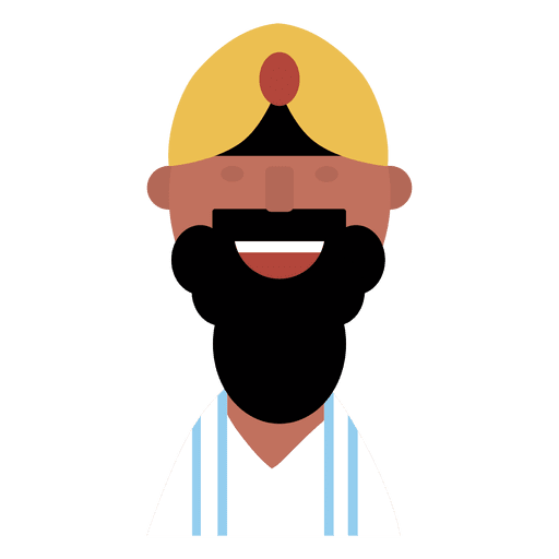 graphic download Beard clipart chin. Hindu man cheerful transparent