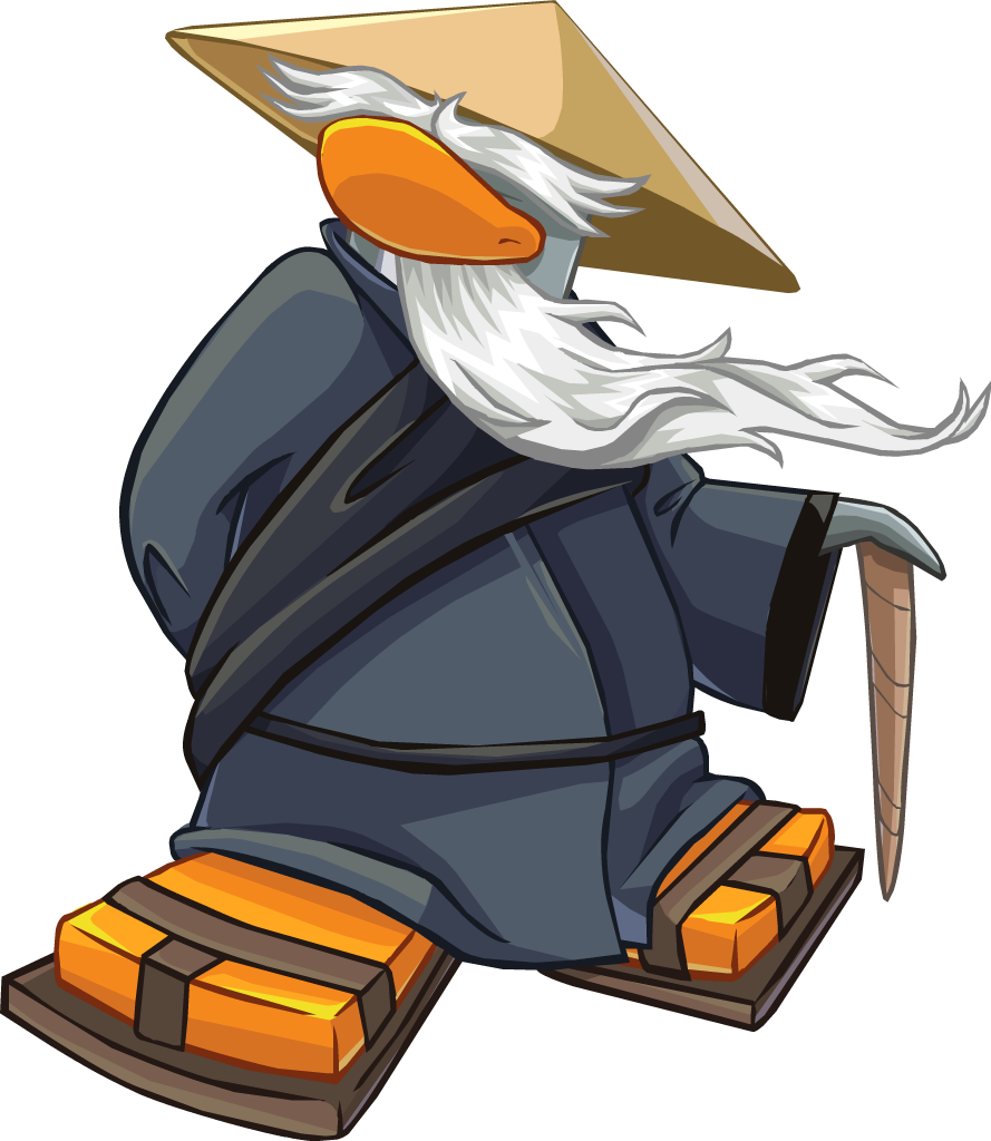 image free download Beard clipart club penguin. Sensei clubpenguin wiki com