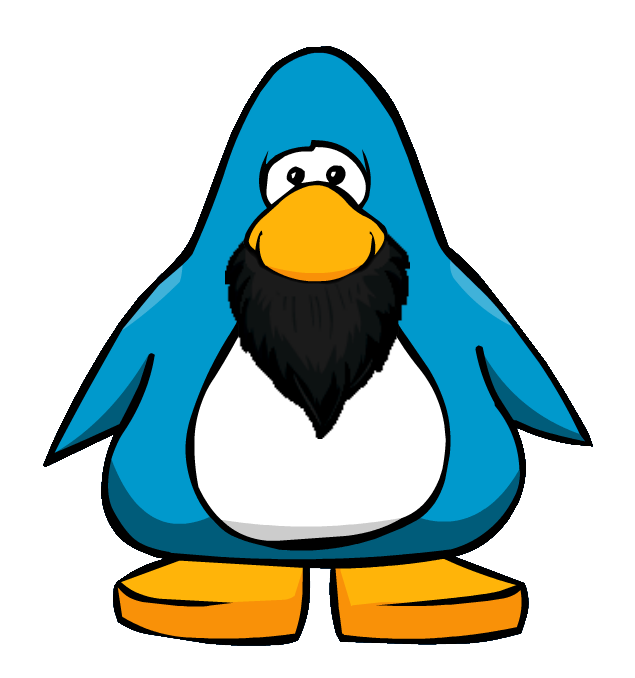 picture free beard clipart club penguin #76634196