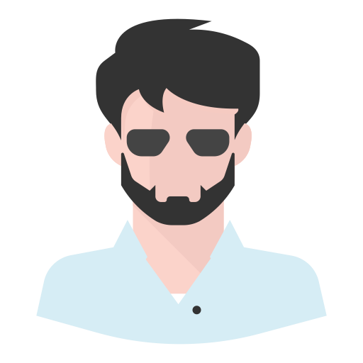 clip library Beard shades man icon. Vector avatar cool