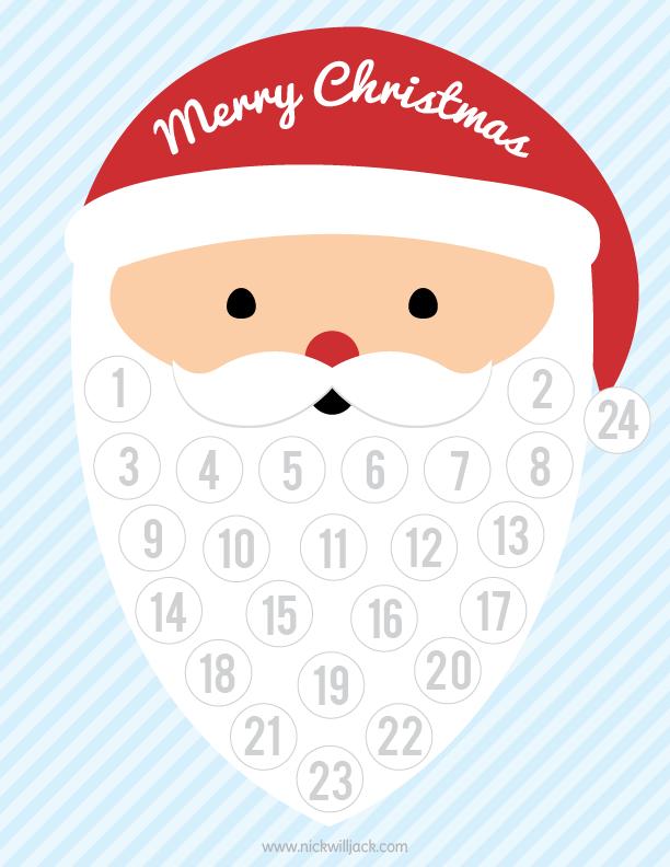 clip art royalty free library Beard clipart cotton ball. Free printable christmas countdown.