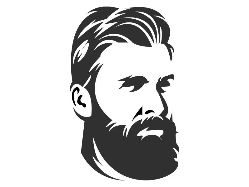 picture library Beard clipart design. Logo barber transparent clip