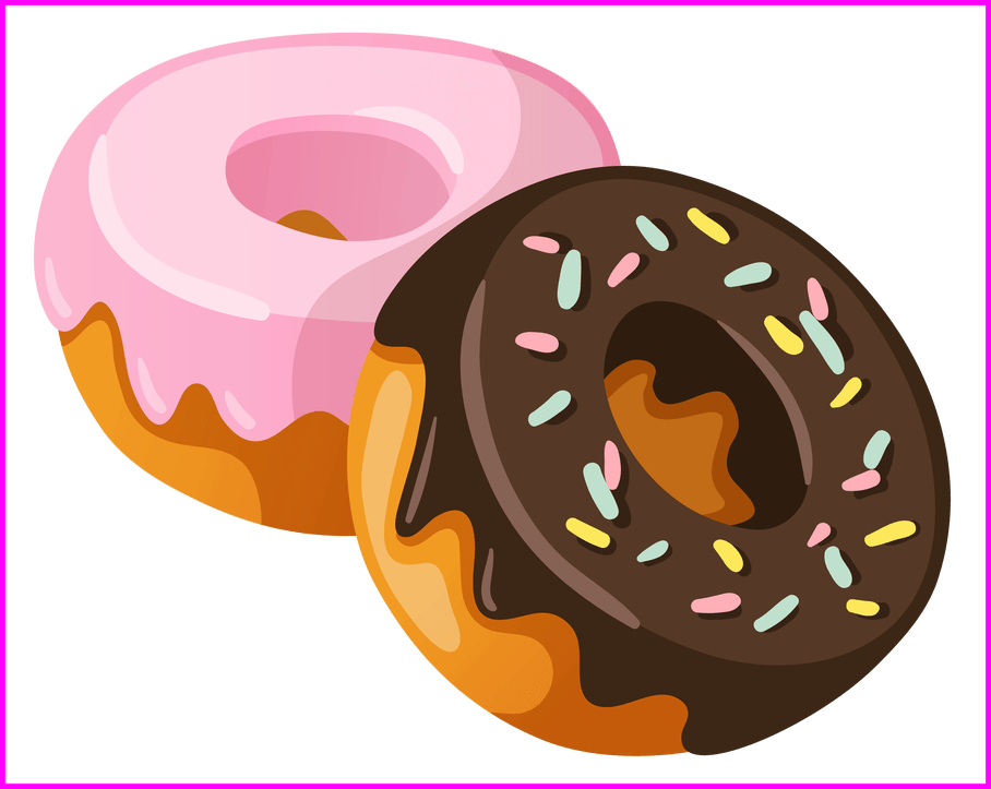 black and white Beard clipart design. Best donuts mssu graphic