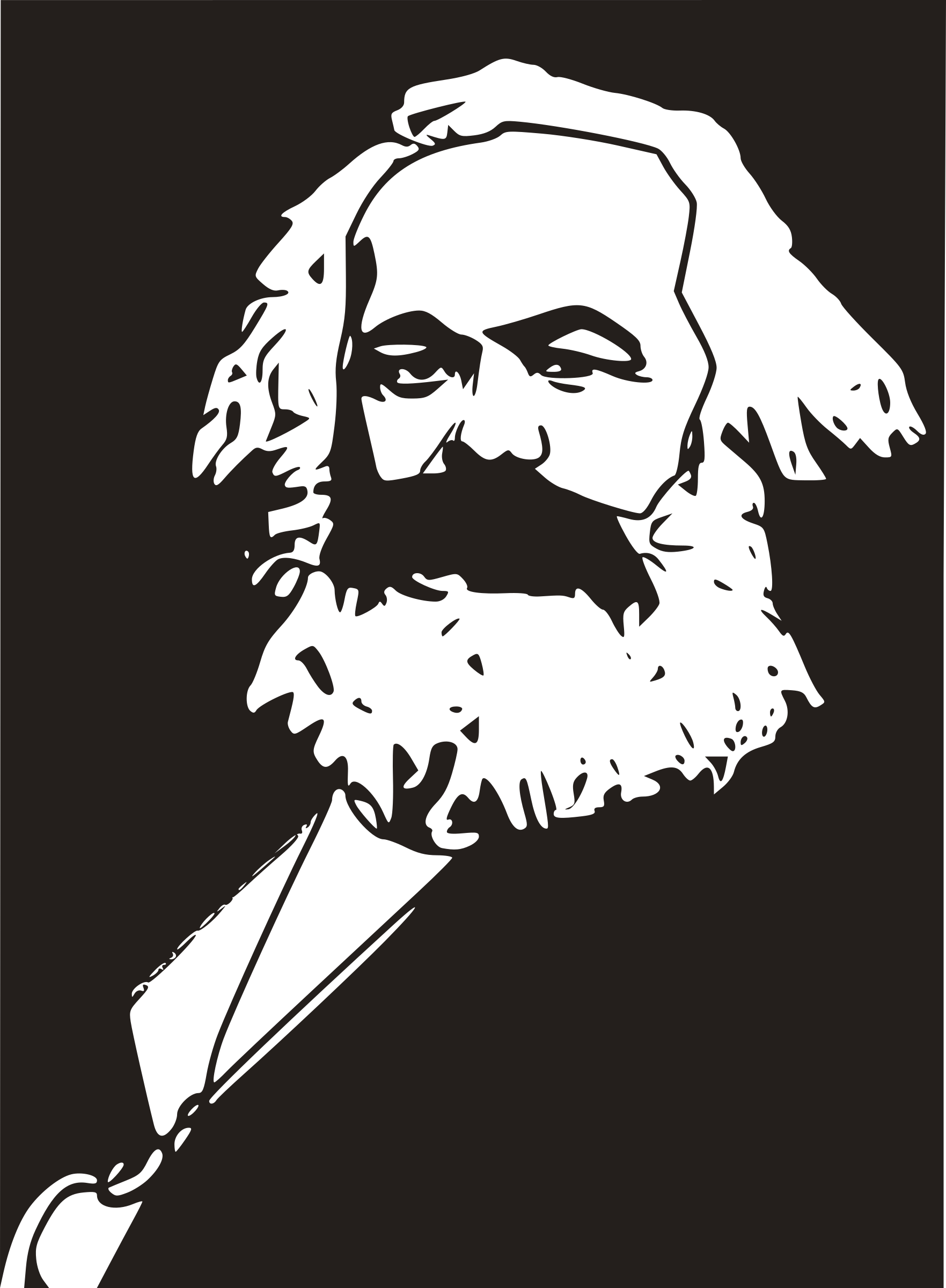 svg free download Karl marx big image. Beard clipart digital