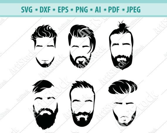 clip art freeuse stock Man svg beards face. Beard clipart digital