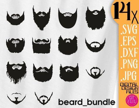svg black and white stock Beard clipart digital. Pinterest