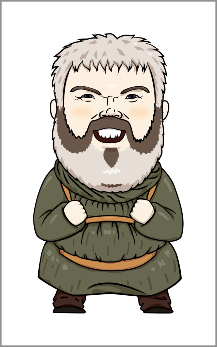 transparent Beard clipart digital. Hodor da by weaponsgradepenguin
