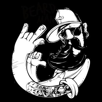 vector transparent stock Beard clipart doodle. Man choose the design