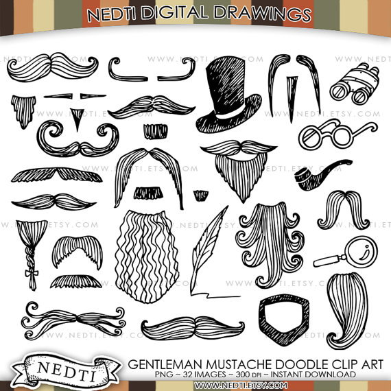 banner freeuse library Beard clipart doodle. Pin by etsy on