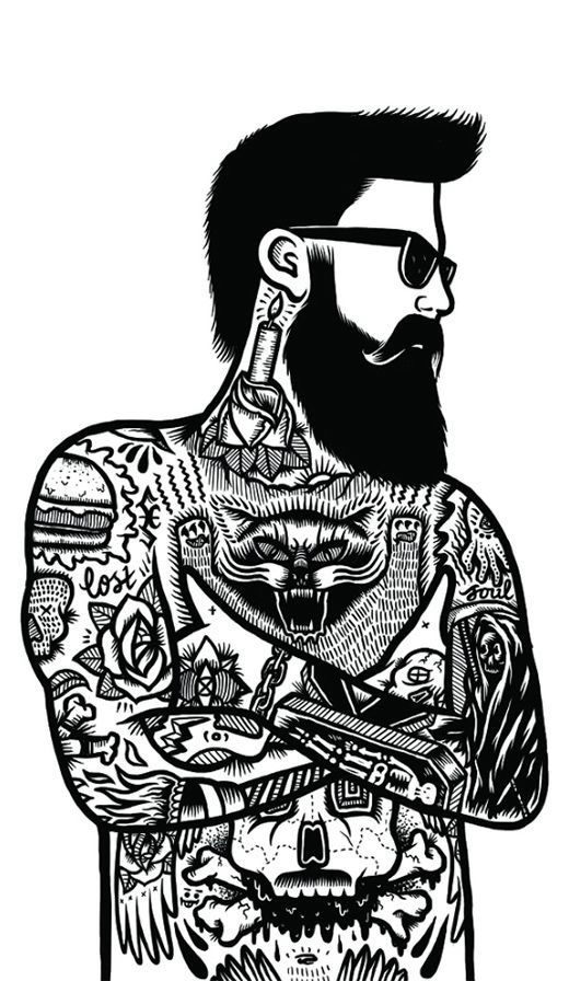 clipart library stock Transparent free for . Beard clipart doodle