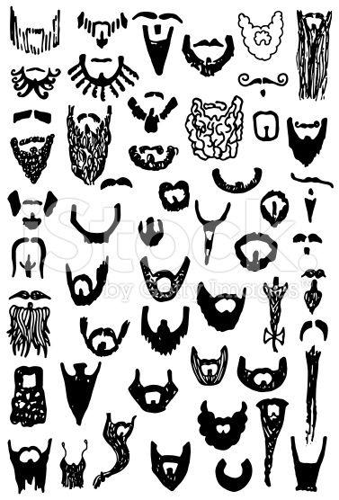 clip art  illustrations of beards. Beard clipart doodle