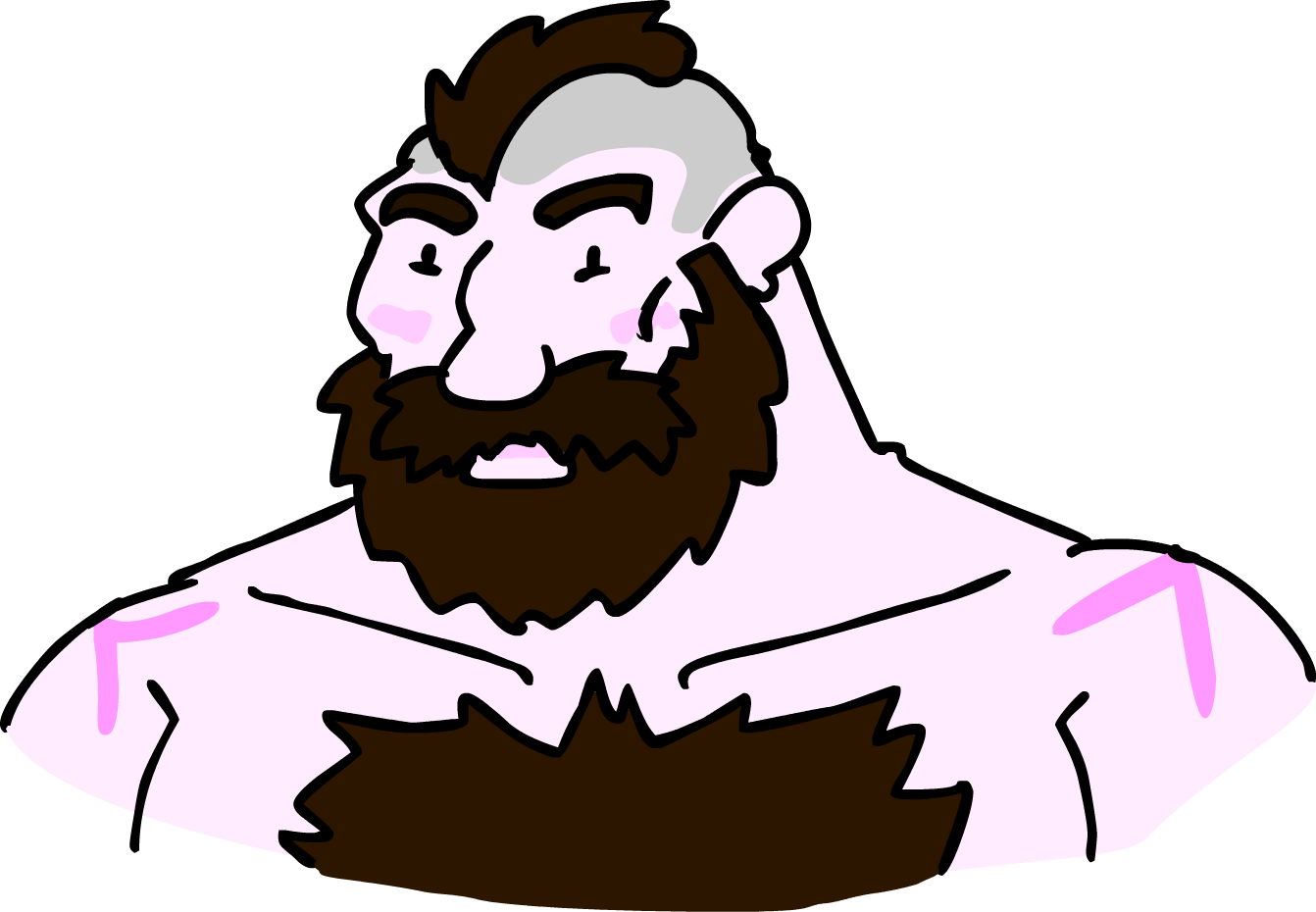 jpg transparent Beard clipart doodle. Zangief by loganmcowen fur