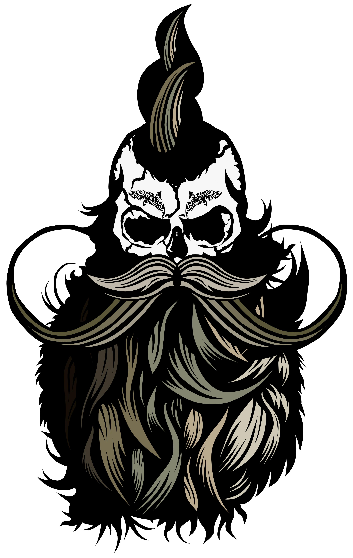 clip transparent Tee shirt tete de. Beard clipart doodle