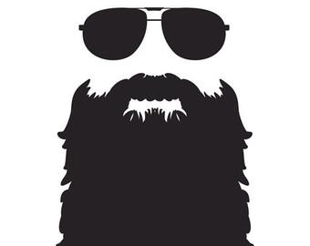 vector transparent Clip art library . Beard clipart duck dynasty