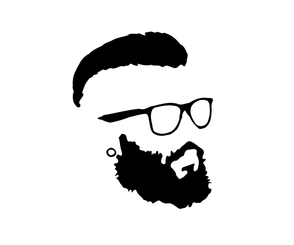 vector transparent library Transparent free . Beard clipart eyeglasses