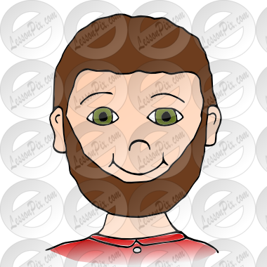 clip stock Beard clipart face. Picture for classroom therapy.