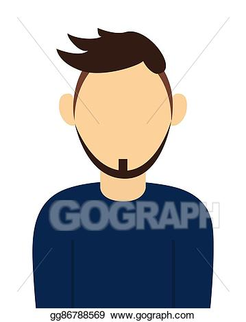 image library library Vector art man with. Beard clipart faceless