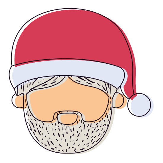 clip black and white Santa claus man icons. Beard clipart faceless