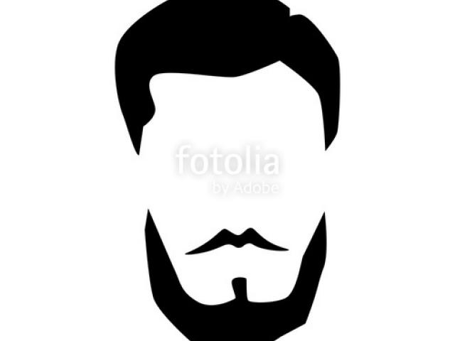 png black and white stock Beard clipart fancy man. Free download clip art