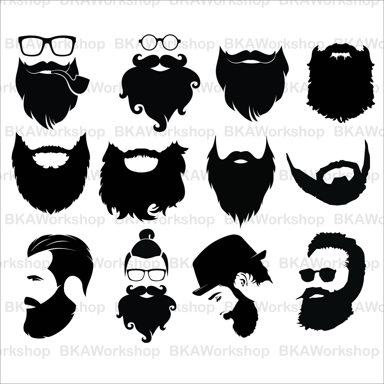 png free stock Beard clipart file. Long transparent free .