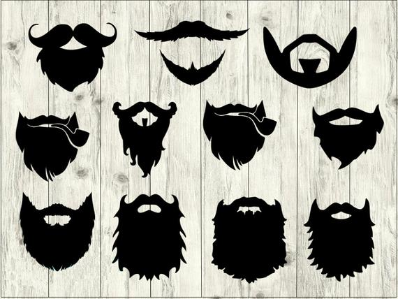 vector royalty free stock Svg bundle hipster cut. Beard clipart file