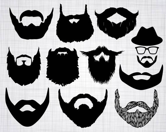 vector freeuse download Beard clipart file. Svg bundle cut files.