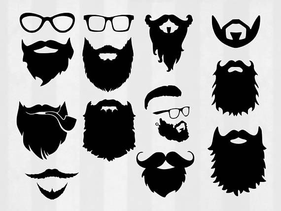 transparent library Pin on printable stickers. Beard clipart file