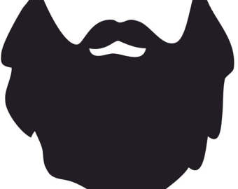 clip black and white library Beard clipart full. Png male mustaches free