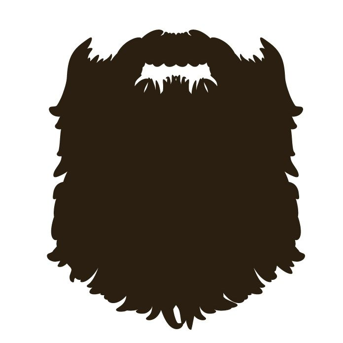clipart freeuse Transparent free . Beard clipart full