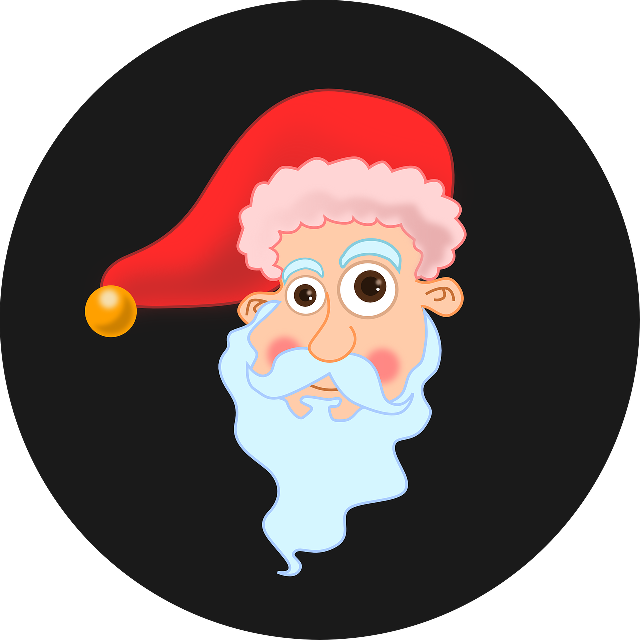 svg royalty free library Beard clipart ginger. Santa claus hat red.