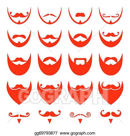 banner download Beard clipart ginger. Eps vector with moustache.