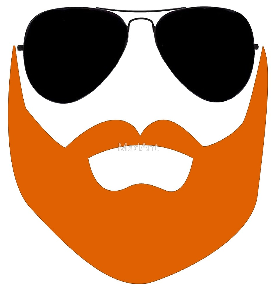 png free download And sunglasses by madant. Beard clipart ginger.