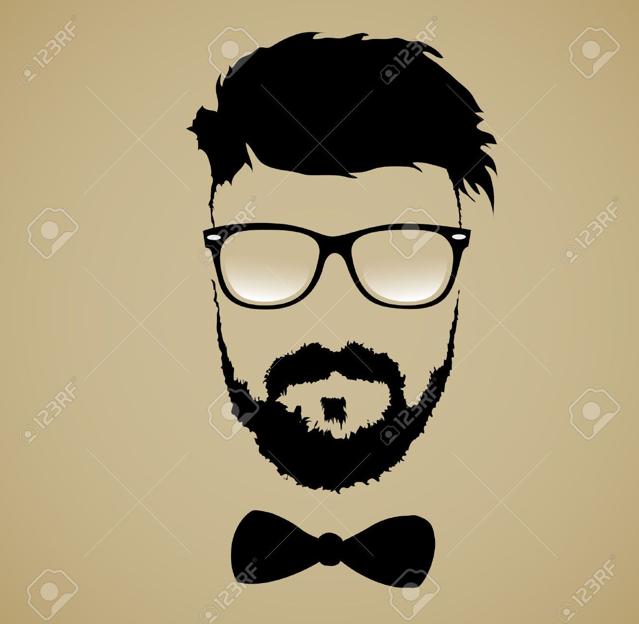 jpg Stock vector art silhouette. Beard clipart glass