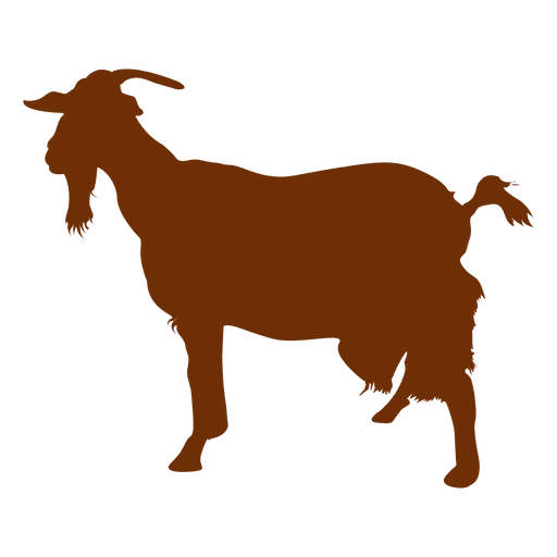 graphic freeuse download Goat with beard silhouette