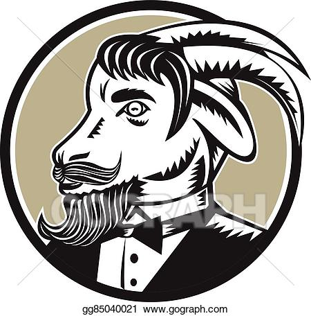 vector free download Beard clipart goat. Vector art tuxedo circle.